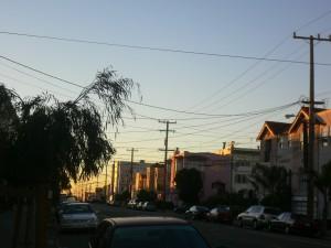 Sunset in San Francisco, 2009