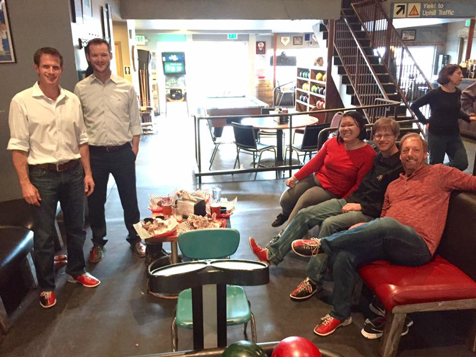 Hanging out with Leads Group 7 this week at our monthly social event. Yay for bowling!