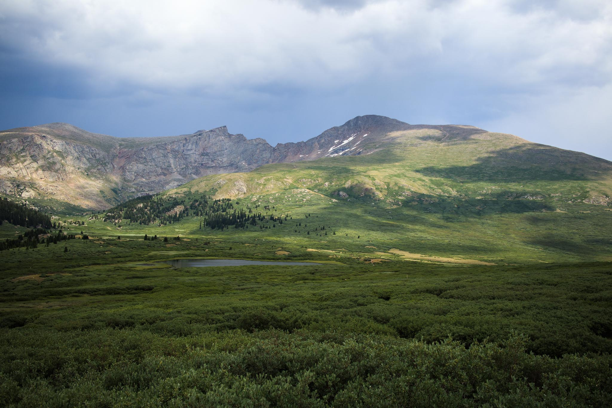 Mount Bierstadt sits at 14,060 feet and is considered a Class 2 mountain to hike.