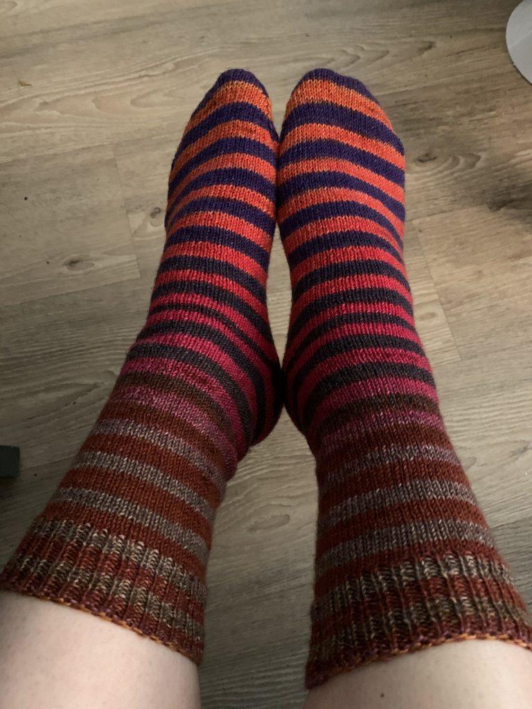Socks in gradient stripes